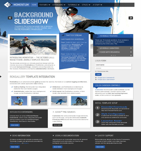 Commercial Joomla template