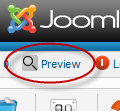 How to preview Joomla articles