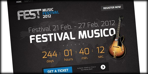 Fest Brings Responsive Design and Great Looks to Event Websites