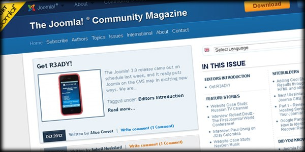 Joomla! Magazine Releases October Issue