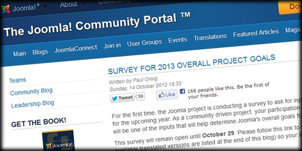 Joomla Needs Your Input