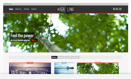 Fill Your Screen with Highline from Joomlabamboo