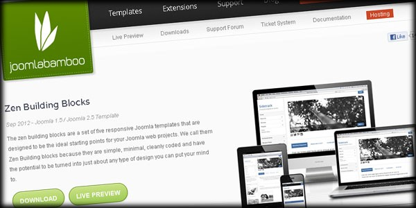 Go Back to Basics with 5 New Minimal Templates from Joomlabamboo
