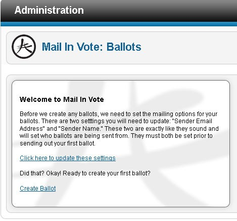 Mail In Vote Makes Web Polls Portable