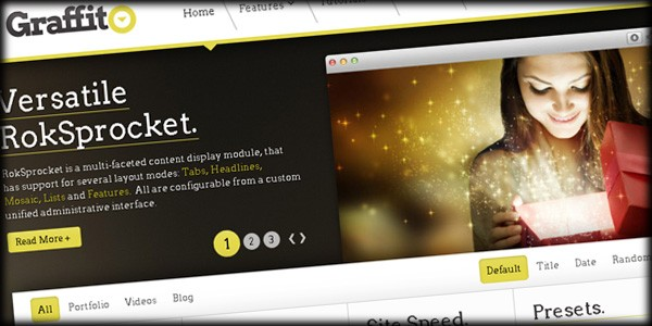 RocketTheme Releases Latest Responsive Template - Graffito