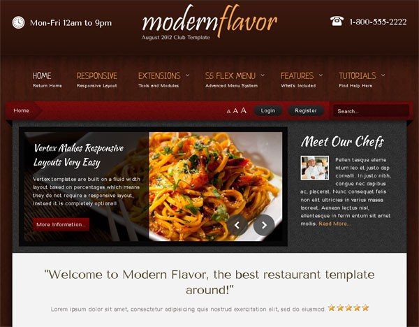 Shape 5 Releases New Template for Foodies