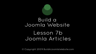 7b - Joomla Articles