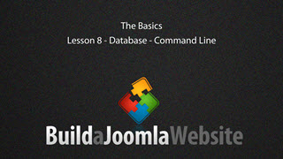 8 - Database installation - Command Line